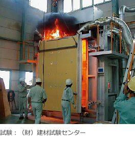 スーパーウォールパネルは、公的な防火試験に合格